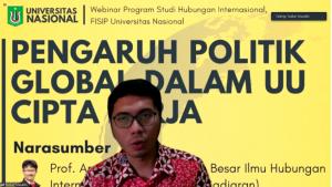 """Webinar """"PENGARUH POLITIK GLOBAL DALAM UU CIPTA KERJA"""""""