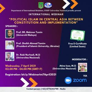 """International Webinar """"Political Islam In Central Asia Between Constitution and Implementation"""""""